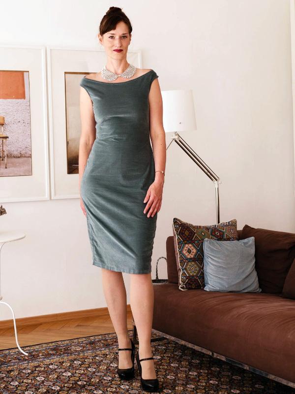 Audrey Kleid gruen heike