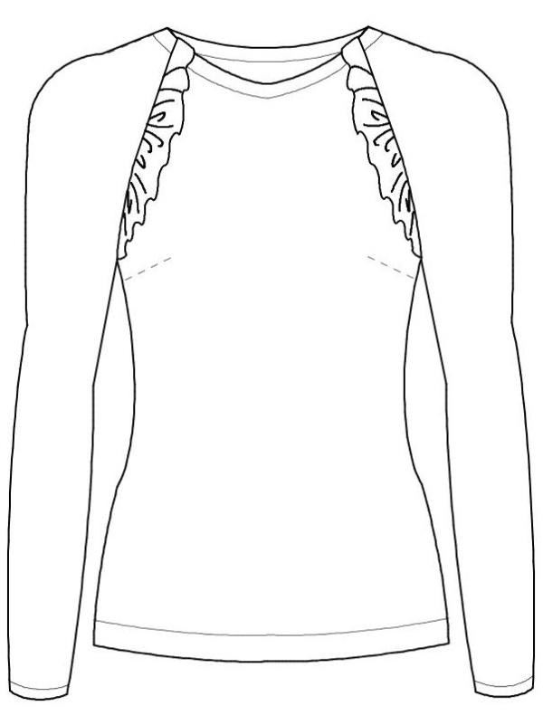 Shirt Charlette technische Zeichnung