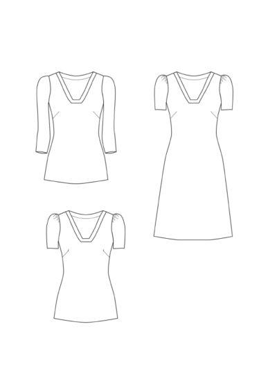 Shirt Elfie technische Zeichnung