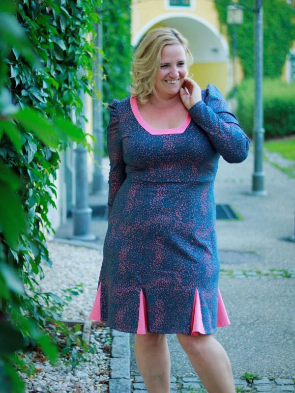 Kleid Elfie blau rosa