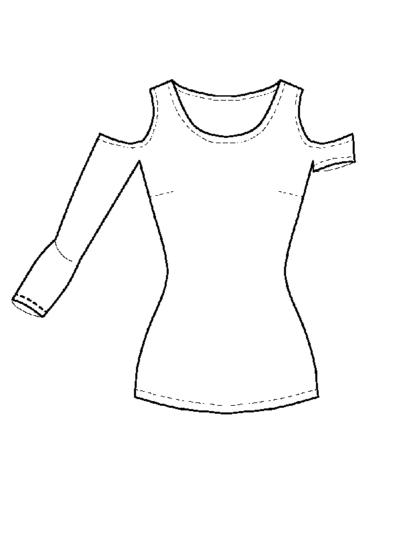 Shirt Hella technische Zeichnung