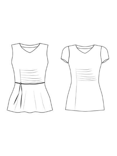 Shirt Joyce technische Zeichnung