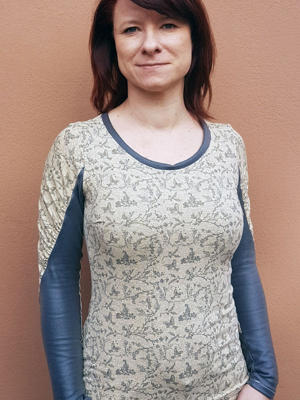 Shirt Rumba Shirt 2-farbiger Aermel