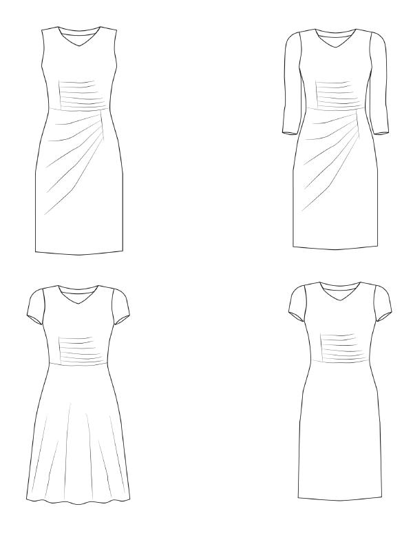 Kleid Joyce technische Zeichnung