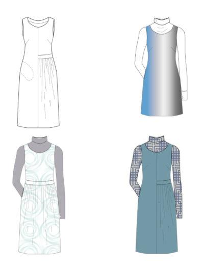 Kleid Neta technische zeichnung