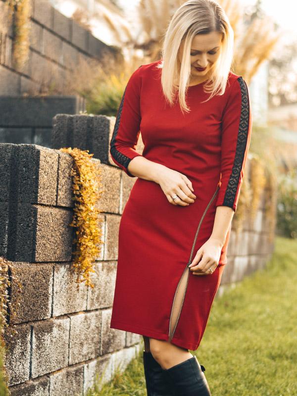 Kleid Sarana rot