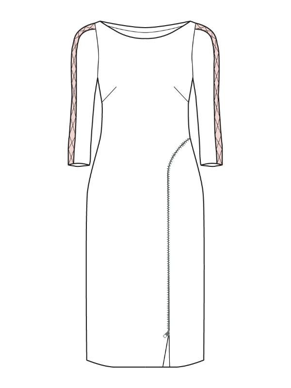 Kleid Sarana technische zeichnung