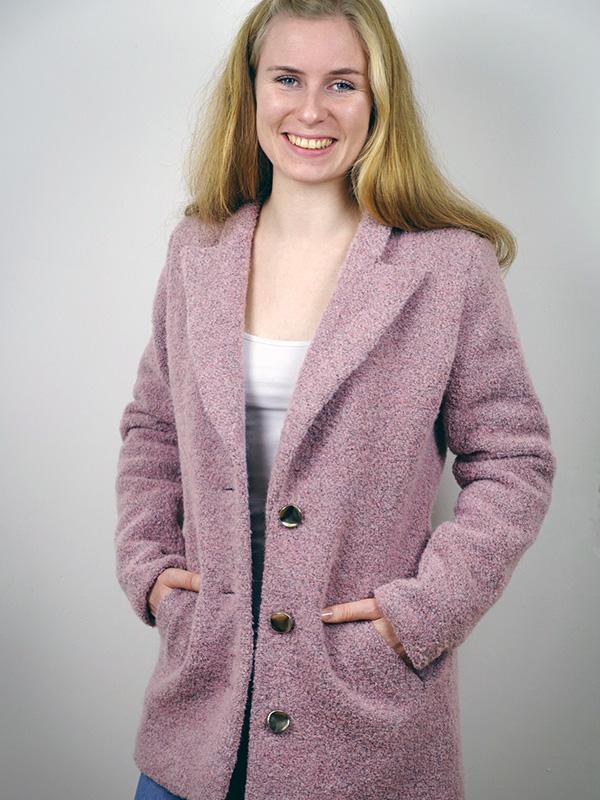 Megan 36 Woll-boucle rosa
