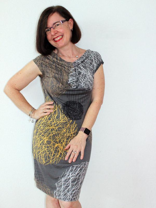 Kleid Petite Rita graphisches Muster