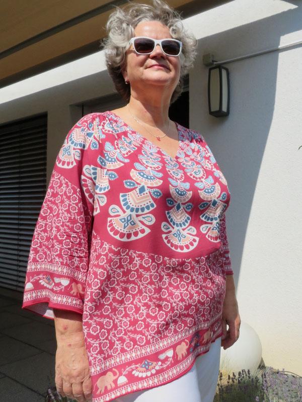 Bluse Rosanne ohne Reißverschluss