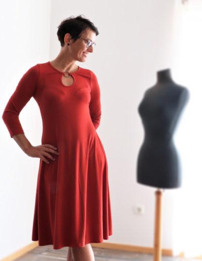 Kleid Samba rot innenaufnahme