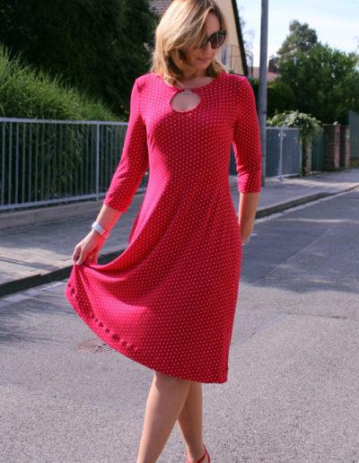 Kleid Samba rot